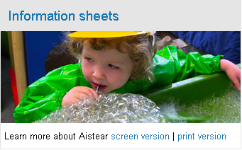 Aistear Information Sheet for Parents