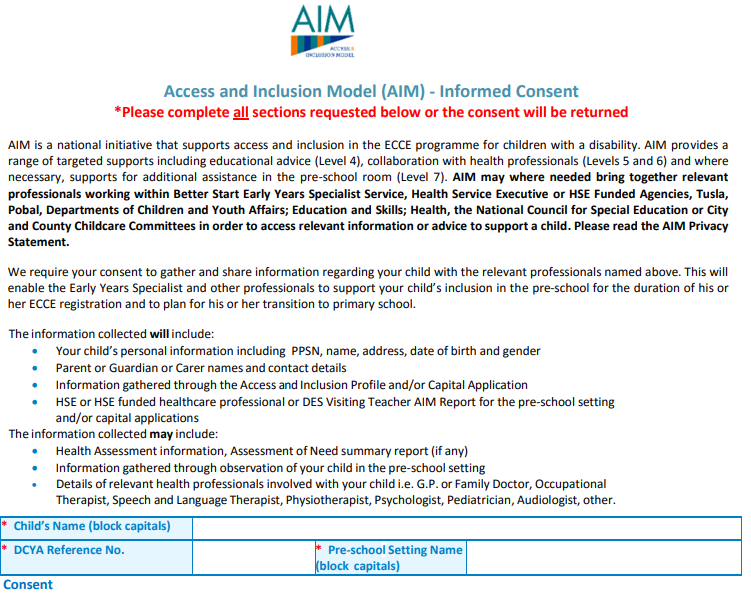 AIM Informed Consent