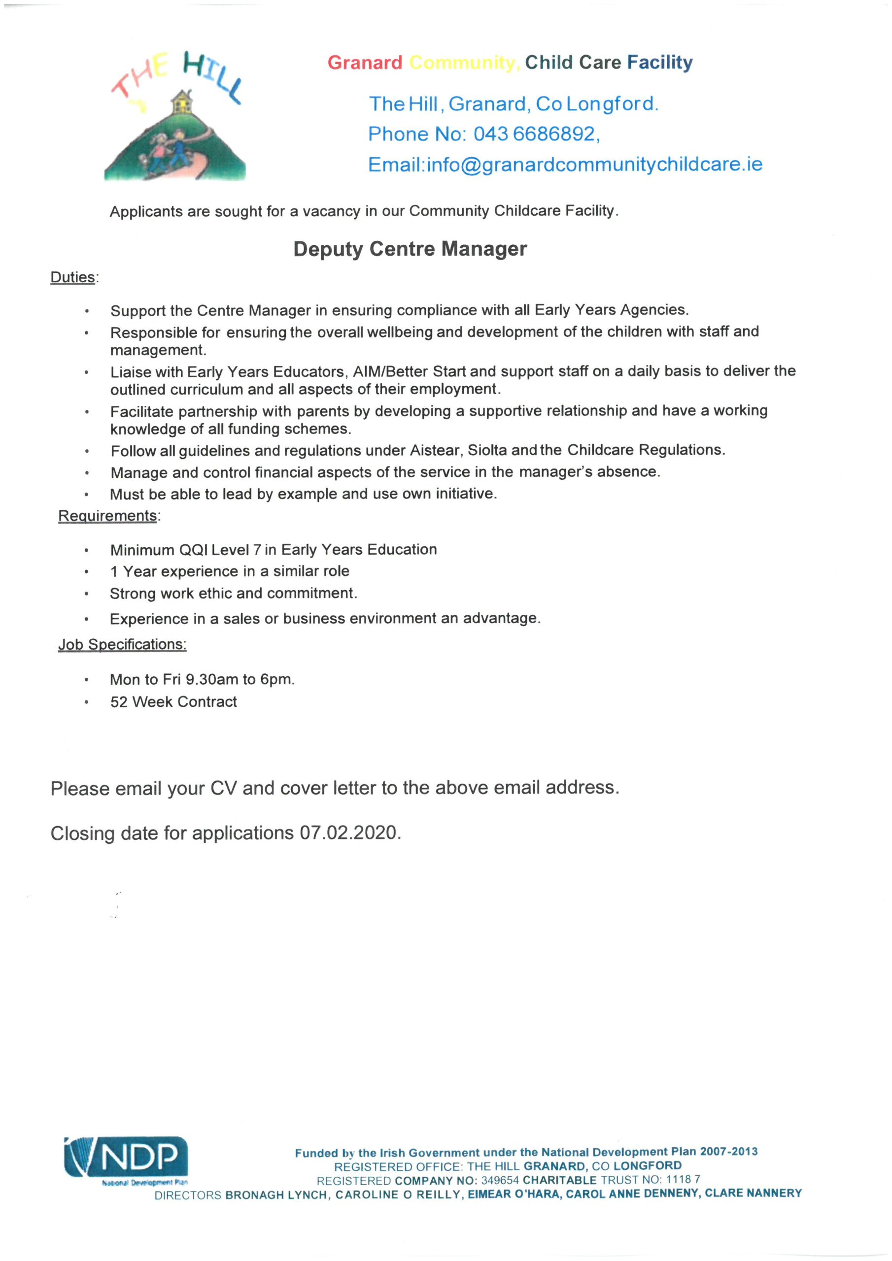 Granard Job Vacancy