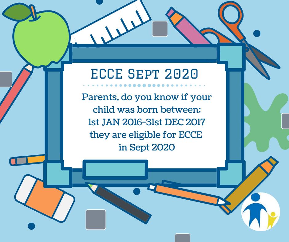 ECCE SEPT 20 eligibility dates