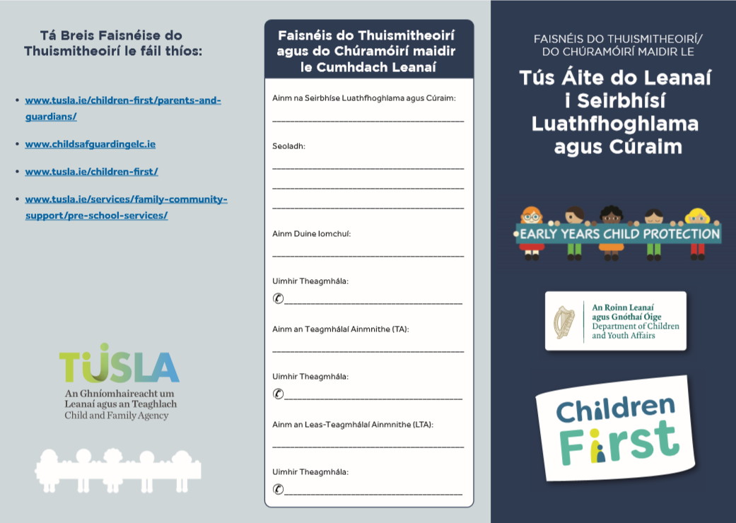 Parents Leaflet (Irish)