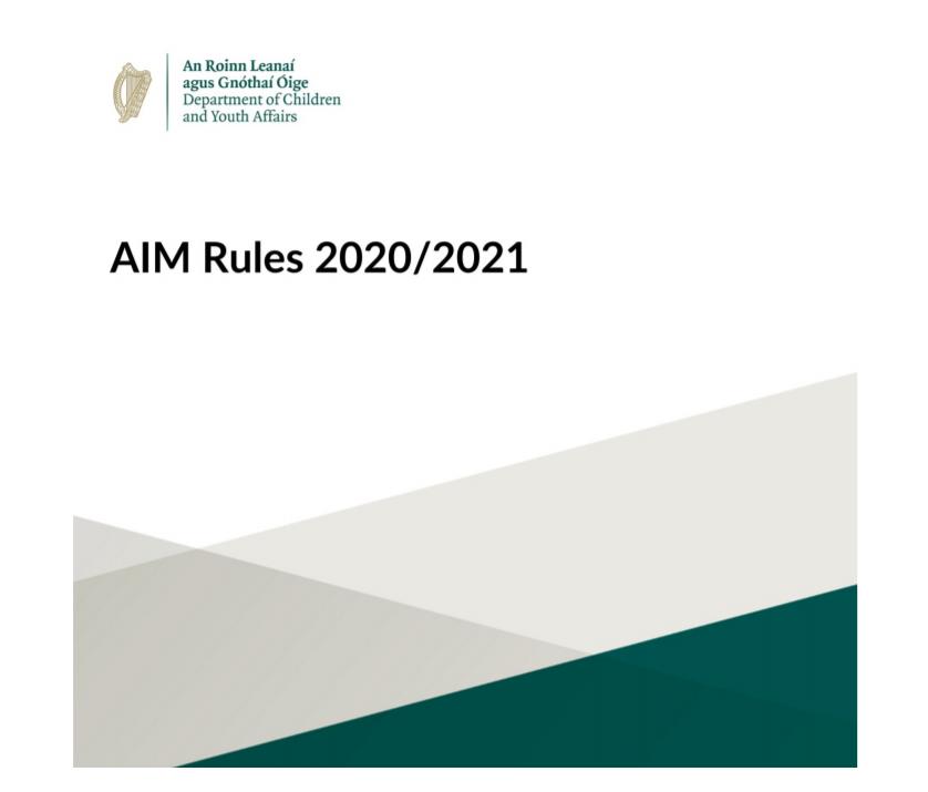 AIM Rules 20-21