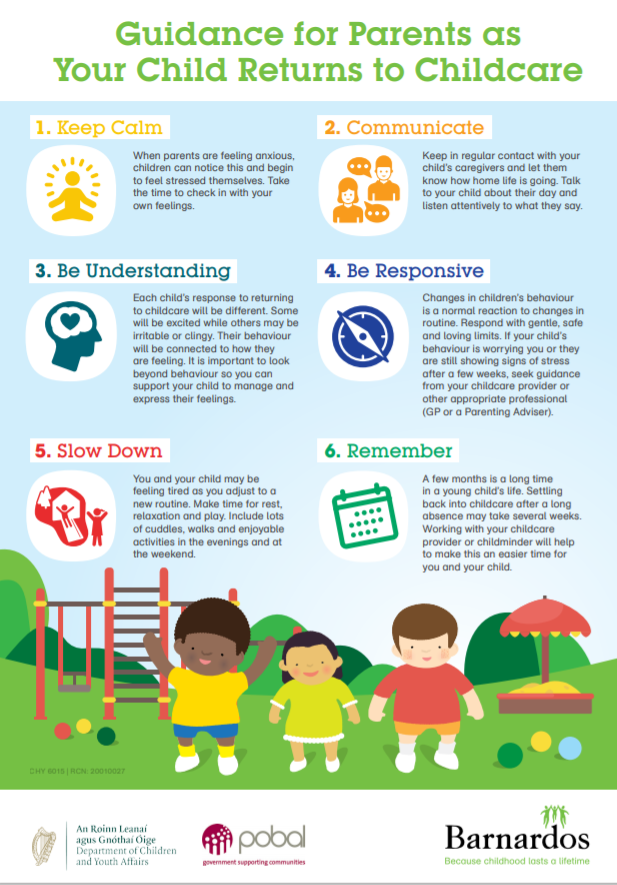 Guidance for Parents as Your Child Returns to Childcare
