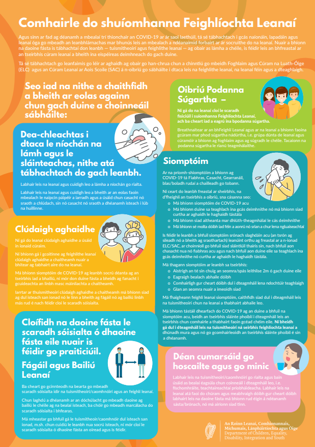Advice for CMs poster Irish