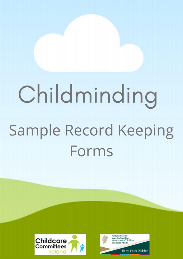 Childminding Sample Record Keeping Forms