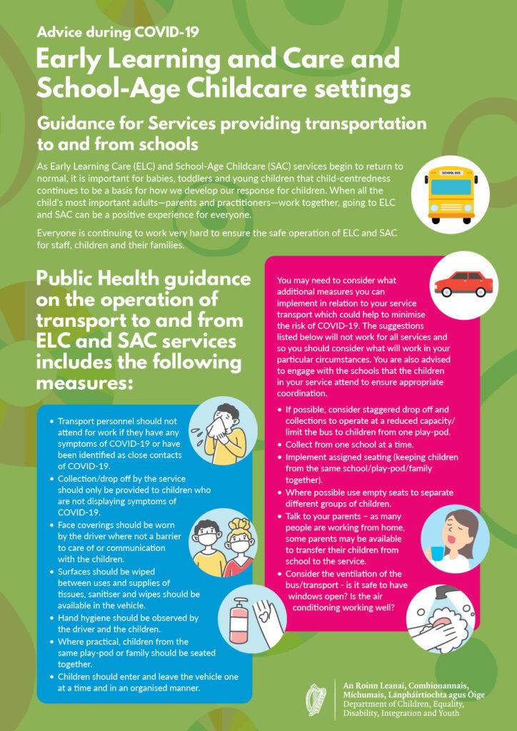 Advice for ELC & SAC providing transport Poster