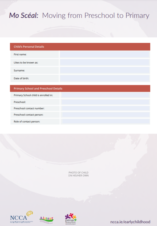 Mo Scéal Reporting Template front