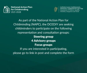 Seeking CMs to participate in rep/consultation groups