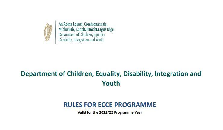 ECCE Programme Rules 2021-2022