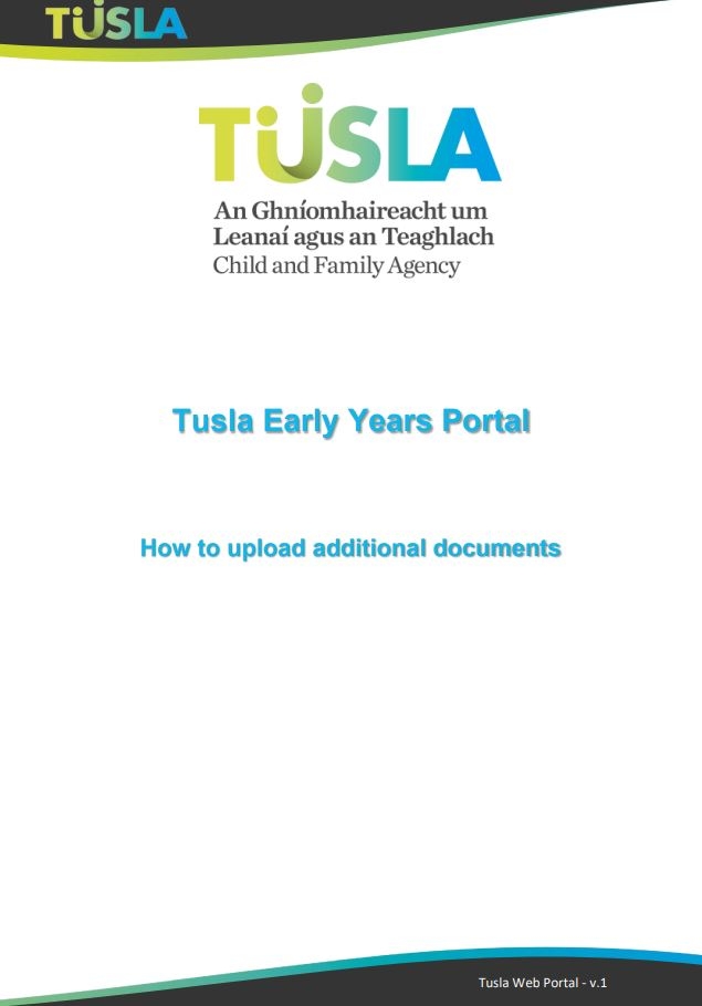 Re registration guide to Uploading additional documents